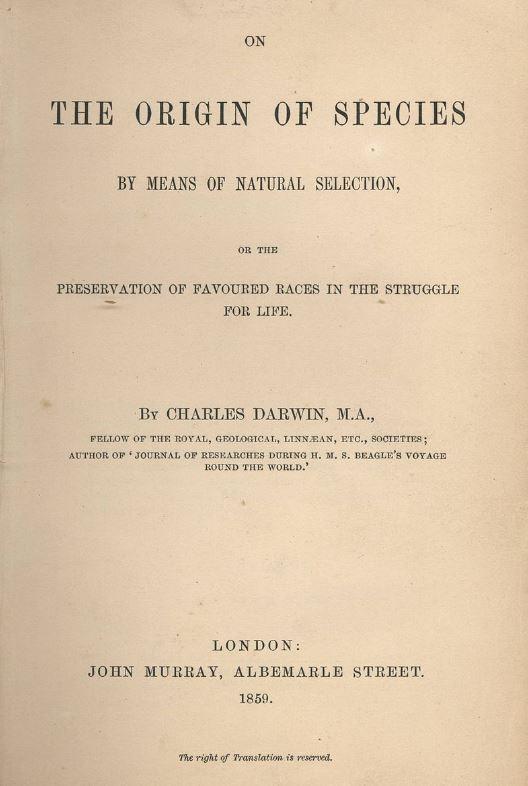 el origen de las especies 1859