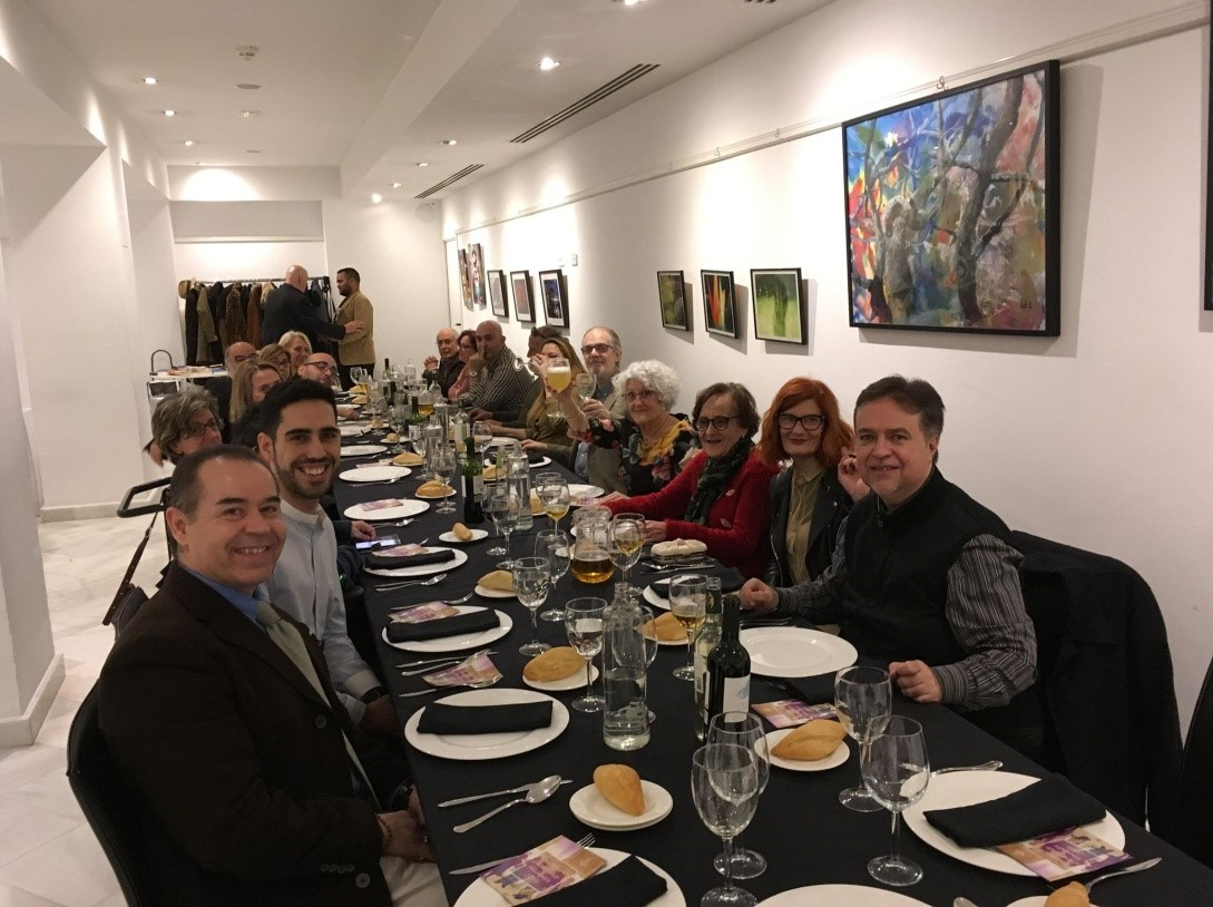 cena congreso artistas masones