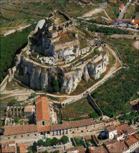 castillo de morella vista aerea