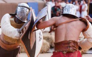 Gladiadores en Astures y Romanos
