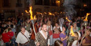 Antorchas en la Semana Medieval